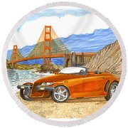 2002 Plymouth Prowler Round Beach Towel