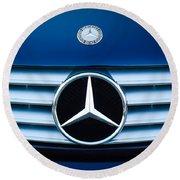 2003 Cl Mercedes Hood Ornament And Emblem Round Beach Towel