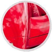 2003 Ferrari Enzo Hood Emblem Round Beach Towel