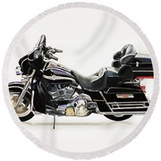 2003 Harley Davidson Round Beach Towel
