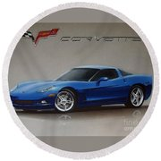 2005 Corvette Round Beach Towel