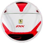 2005 Ferrari Fxx Evoluzione Hood Emblem Round Beach Towel