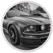 2005 Ford Mustang Convertible Bw  Round Beach Towel