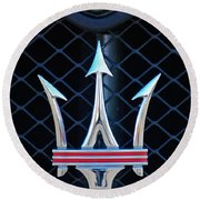 2005 Maserati Gt Coupe Corsa Emblem Round Beach Towel