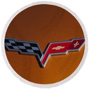 2007 Chevrolet Corvette Indy Pace Car Emblem Round Beach Towel