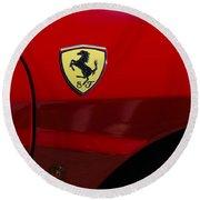 2007 Ferrari F430 Spider F1 Round Beach Towel