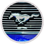 2007 Ford Mustang Grille Emblem Round Beach Towel