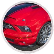 2007 Ford Mustang Shelby Gt500 427  Round Beach Towel