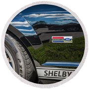 2007 Ford Mustang Shelby Gt500 Painted   Round Beach Towel