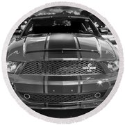 2007 Ford Mustang Shelbygt 500 427 Bw Round Beach Towel