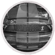 2007 Ford Shelby Gt 500 Mustang Bw Round Beach Towel