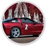 2008 Corvette Round Beach Towel