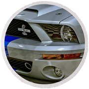 2008 Ford Mustang Shelby Grill Headlight Round Beach Towel