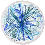 2010 Abstract Drawing 21 Round Beach Towel