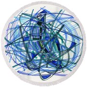 2010 Abstract Drawing 22 Round Beach Towel