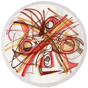 2010 Abstract Drawing 23 Round Beach Towel