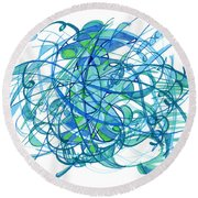 2010 Abstract Drawing 30 Round Beach Towel