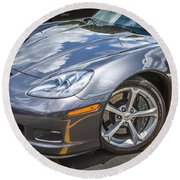 2010 Chevy Corvette Grand Sport Hdr Round Beach Towel