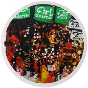 2012 068 New Jersey Round Beach Towel