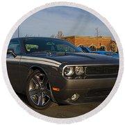 2012 Dodge Challenger R/t Classic Round Beach Towel