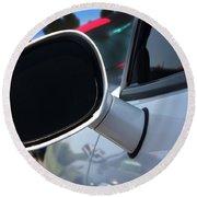2012 Dodge Challenger White Rear View Mirror - 6023 Round Beach Towel