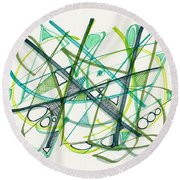2012 Drawing #34 Round Beach Towel