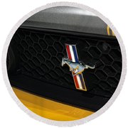 2012 Ford Mustang Boss 302 Round Beach Towel