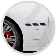 2012 Maserati Gran Turismo S Round Beach Towel