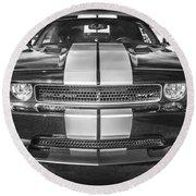 2013 Dodge Challenger Srt Bw Round Beach Towel