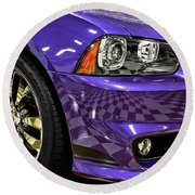 2013 Dodge Charger Headlight Round Beach Towel