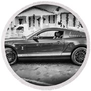 2013 Ford Mustang Shelby Gt 500 Bw Round Beach Towel