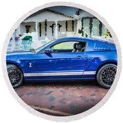 2013 Ford Mustang Shelby Gt 500  Round Beach Towel