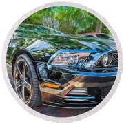 2013 Ford Shelby Mustang Gt 5.0 Convertible Painted   Round Beach Towel