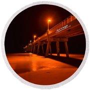 2014 02 06 01 A Okaloosa Island Pier 0195 Round Beach Towel