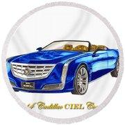 2014 Cadillac Ciel Concept Round Beach Towel
