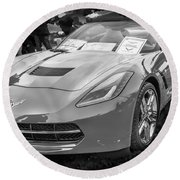 2014 Chevrolet Corvette C7 Bw  Round Beach Towel