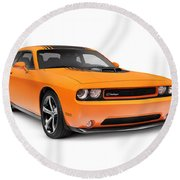 2014 Dodge Challenger Muscle Car Round Beach Towel