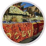 2015 Cal Poly Rose Parade Float 15rp052 Round Beach Towel