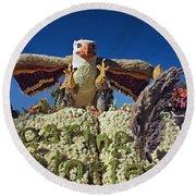 2015 Cal Poly Rose Parade Float 15rp055 Round Beach Towel