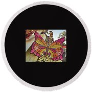 2015 Rose Parade Float With Butterflies 15rp043 Round Beach Towel