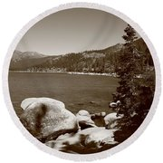Lake Tahoe Round Beach Towel