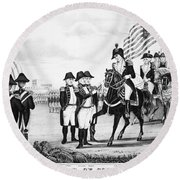 Yorktown: Surrender, 1781 Round Beach Towel