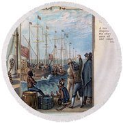 Boston Tea Party, 1773 Round Beach Towel