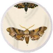 Butterflies Round Beach Towel