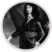 Charles II (1630-1685) Round Beach Towel