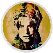 David Bowie Collection Round Beach Towel