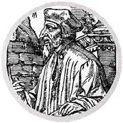 John Wycliffe (1320?-1384) Round Beach Towel