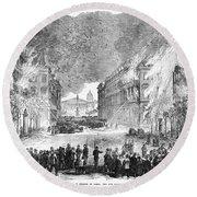 Paris Commune, 1871 Round Beach Towel