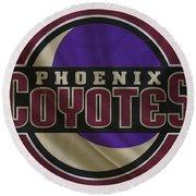 Phoenix Coyotes Round Beach Towel