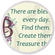 223- Blessings Round Beach Towel